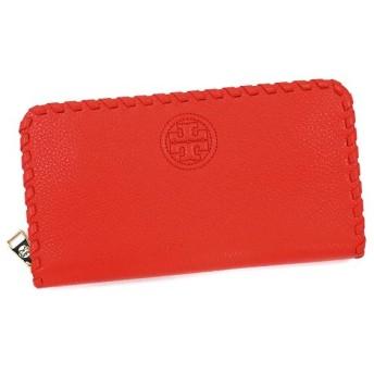 トリーバーチ tory burch 長財布 長札 12159090 marion multi gusset zip continental wallet masaai red red