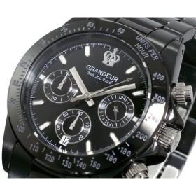 グランドール GRANDEUR 腕時計 クロノグラフ メンズ OSC031W3