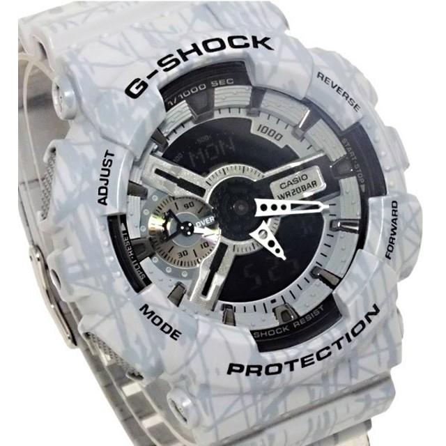 カシオ CASIO G-SHOCK デジタル メンズ 腕時計 GA-110SL-8AJF グレー 国内正規