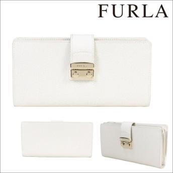フルラ FURLA 財布 長財布 ラウンドファスナー レディース ホワイト ARE METROPOLIS 870920