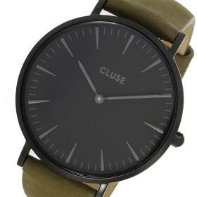 クルース CLUSE ラ・ボエーム レザーベルト 38mm レディース 腕時計 CL18502 ブラック/カーキ