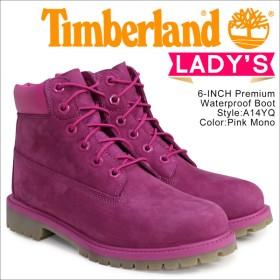 ティンバーランド Timberland 6インチ プレミアム ブーツ レディース 6INCHI JUNIOR 6-INCH PREMIUM WATERPROOF BOOTS A14YQ 防水 ピンク