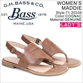 G.H. BASS サンダル レディース ジーエイチバス トング アンクルストラップ MADDIE THONG SANDAL 71-20338 靴 ブラウン