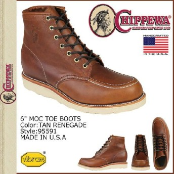 チペワ CHIPPEWA 6インチ モック トゥ ブーツ 95591 タンラネゲード 6INCH MOC TOE BOOTS Dワイズ レザー メンズ
