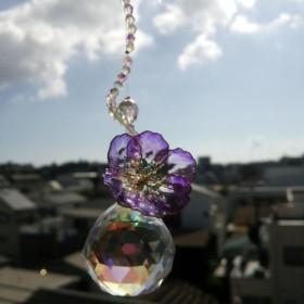フラワーサンキャッチャー(大)紫