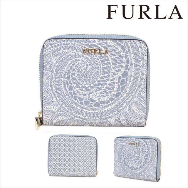 フルラ FURLA 財布 二つ折り ラウンドファスナー レディース ライトブルー BABYLON 874000