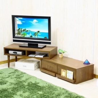 ラシア Rashia 伸張式TVボード テレビ台 RASHIATVBR ウォールナット 代引き不可