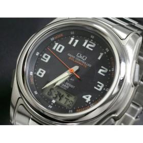 シチズン製 Q&Q 電波 ソーラー 腕時計 時計 メンズ MCS4-302