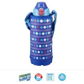 タイガー 直飲み水筒 ステンレス ボトル ポーチ付き ブルーネオン 0.8L MBO-F080AN 0744