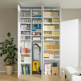 日用品もしまえる頑丈段違い書棚上置き(幅60cm) 678103