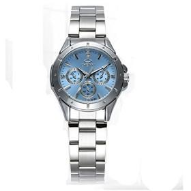 75dfd14ff2 PHCOOVERS 腕時計 レディース シンプル アナログ カジュアル ビジネス 兼用 ステンレス バンド (ブルー)