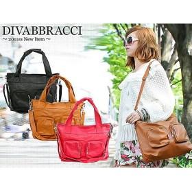 ディーバブラッチ DIVABBRACCI 2WAY ショルダーバッグ A-1-7 ピンク