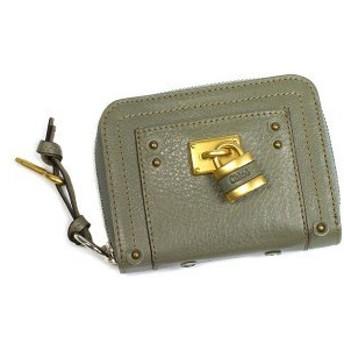 クロエ chloe 二つ折り財布 小銭入 paddington 7epm09 sage gr