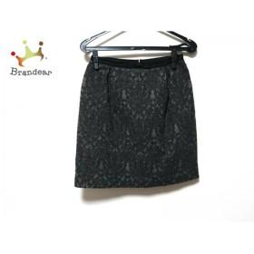 パンセ Pensee スカート サイズ36 S レディース 美品 ダークグレー リボン                   スペシャル特価 20190814