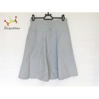 ジャスグリッティー JUSGLITTY スカート サイズ2 M レディース 白×ネイビー スペシャル特価 20190716