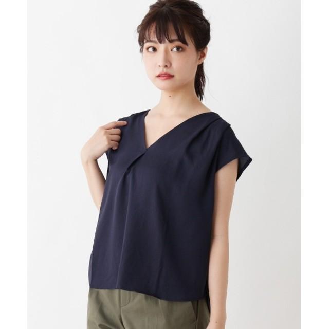 Tシャツ - grove 異素材切り替えVネックプルオーバー