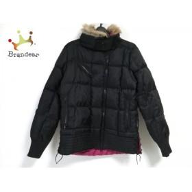 ローズバッド ROSEBUD ダウンジャケット サイズ2 M レディース 黒×ピンク×ブラウン      値下げ 20190304