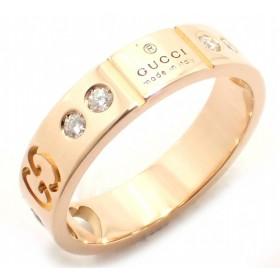 (ジュエリー)GUCCI グッチ アイコンアモールリング 指輪 #6 6号 GG ハート K18PG ピンクゴールド ダイヤモンド 10P ジャパンリミテッド 213898 J8540 5702(u)