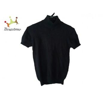 インゲボルグ INGEBORG 半袖セーター サイズM M レディース 黒 ハイネック スペシャル特価 20190305