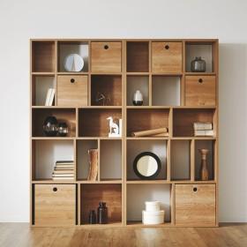 棚 おしゃれ 収納 ラック 壁付け 木製 壁面収納 本棚 キャビネット 引き出し 幅90