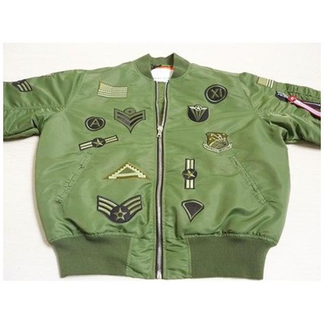 SMOKE RISE スモークライズ MA1 メンズ フライトジャケット 大きいサイズ 中綿入り 刺繍加工