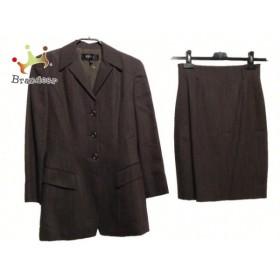 エポカ EPOCA スカートスーツ サイズ40 M レディース ダークブラウン 肩パッド       スペシャル特価 20190227