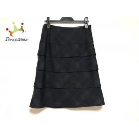 ジユウク スカート サイズ36 S レディース ダークグリーン×黒 ティアード/チェック柄            値下げ 20191006