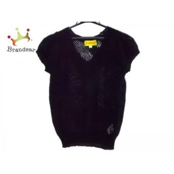 ホコモモラ JOCOMOMOLA 半袖セーター サイズ40 XL レディース 黒 スペシャル特価 20190418
