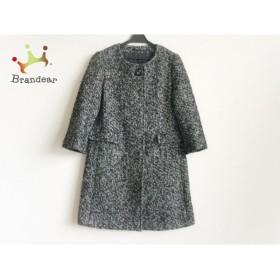 マヌーカ MANOUQUA コート サイズ38 M レディース 黒×白 春・秋物  値下げ 20190602