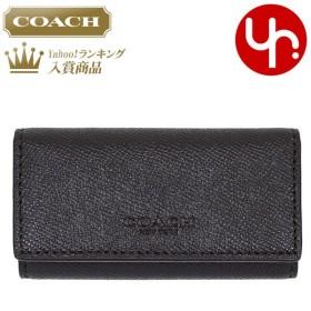 8cceb1a0d35f コーチ COACH 小物 キーケース F59107 ブラック クロスグレーン レザー 4連 キーケース アウトレット メンズ