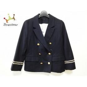 ジーナシス JEANASIS ジャケット サイズM レディース 美品 黒×ゴールド               スペシャル特価 20190820