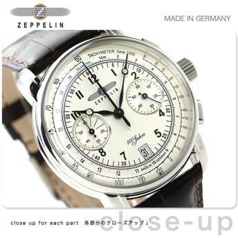 31日まで!さらに+24倍でポイント最大34倍 ツェッペリン 100周年 記念モデル クロノグラフ メンズ 7674-1 腕時計