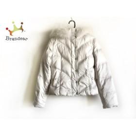 クードシャンス ダウンジャケット サイズ36 S レディース アイボリー ファー/冬物      値下げ 20190308