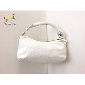 フォリフォリ FolliFollie ハンドバッグ 白 型押し加工 PVC(塩化ビニール)       スペシャル特価 20190419