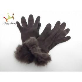 ミッシェルクラン MICHELKLEIN 手袋 レディース ダークブラウン ウール×ファー 新着 20190601