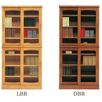 本棚 (フレンド 85 スライド書棚)幅85cm 木製