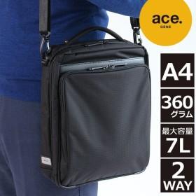エースジーン 5年保証 エースジーン レーベル ACEGENE LABEL フレックスライトフィット 縦型 A4対応 2WAYショルダーバッグ 新品番:54554