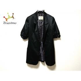 ダイアグラム Diagram GRACE CONTINENTAL ジャケット サイズ36 S レディース 美品 黒 ロング丈               スペシャル特価 20190523