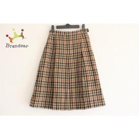 ダックス DAKS スカート サイズ60-88 レディース ブラウン×黒×白 チェック柄           スペシャル特価 20190407