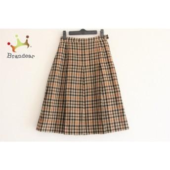 ダックス DAKS スカート サイズ60-88 レディース ブラウン×黒×白 チェック柄 値下げ 20190917