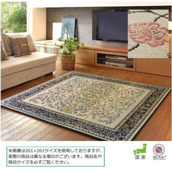 カーペット ラグ (国産い草センターラグ イデア NA/BK 261×261)日本製