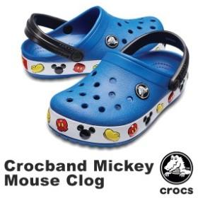 【送料無料】クロックス(CROCS) クロックバンド ミッキー クロッグ キッズ(crocband Mickey Clog K) サンダル[AA]【25】