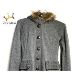 トミーガール tommy girl コート サイズXS レディース ライトグレー×ベージュ 冬物                値下げ 20190323