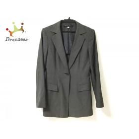 ミッシェルクラン MICHELKLEIN ジャケット サイズ38 M レディース ダークグレー 肩パッド             スペシャル特価 20190821