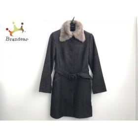 レストローズ L'EST ROSE コート レディース 黒×ブラウン フェイクファー冬物  スペシャル特価 20190602