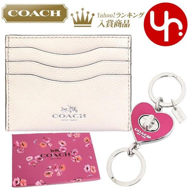 109aa831e8c4 コーチ COACH 小物 カードケース F66088 チョーク×ダリア レザー カードケース ハート ターンロック バレット