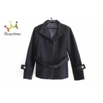 メルローズ MELROSE コート サイズ3 L レディース 美品 黒 冬物/ショート丈 値下げ 20190307