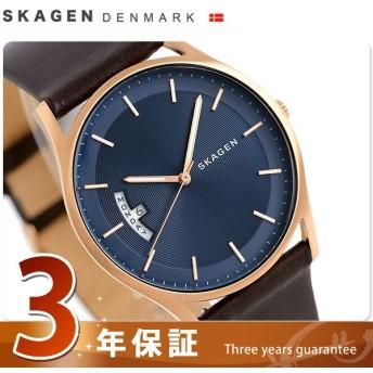 スカーゲン 腕時計 ホルスト 40mm 革ベルト メンズ SKW6395 SKAGEN 時計