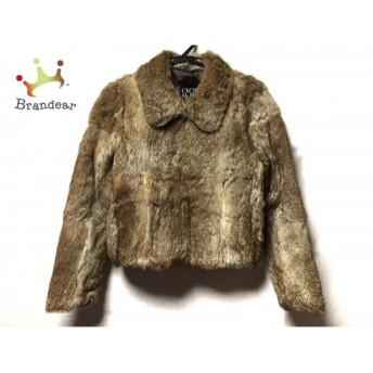 セシルマクビー CECILMcBEE コート サイズ9AR S レディース ブラウン 冬物/ラビットファー 値下げ 20190602