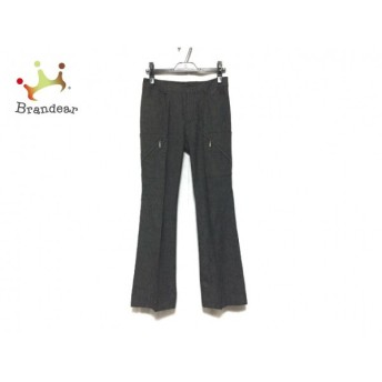 ニジュウサンク 23区 パンツ サイズ38 M レディース 美品 黒×白 スペシャル特価 20190604